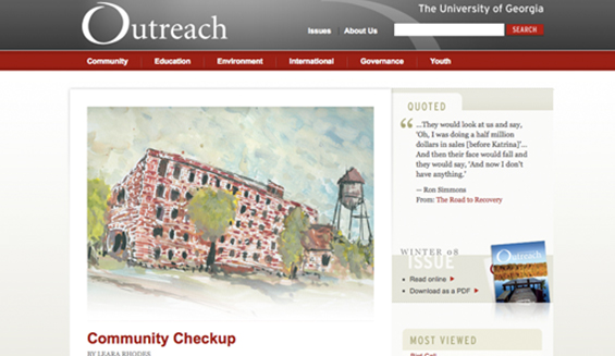 Outreach Magazine / The Office of Public Service and Outreach at the University of Georgia