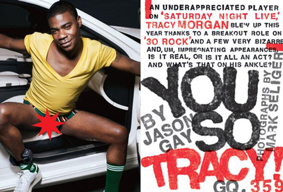 GQ, Tracy Morgan article