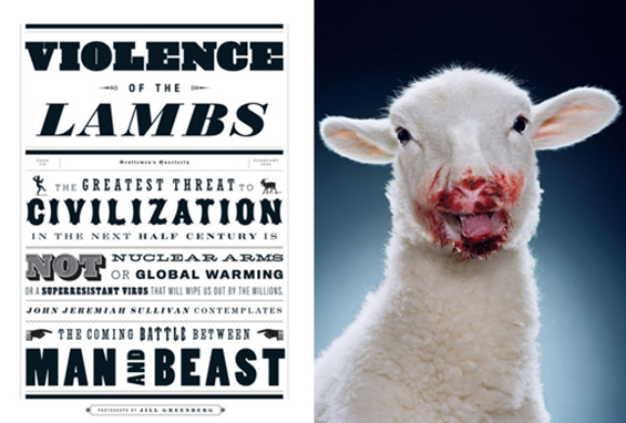 GQ, Violence of the Lambs article